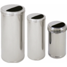 Conjunto Seletivo com 5 Lixeira cilindrica de 50 lt em inox