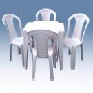 Conjunto De 1 Mesa com 4 cadeiras sem Braço - 1 - Promoção - R$170,00