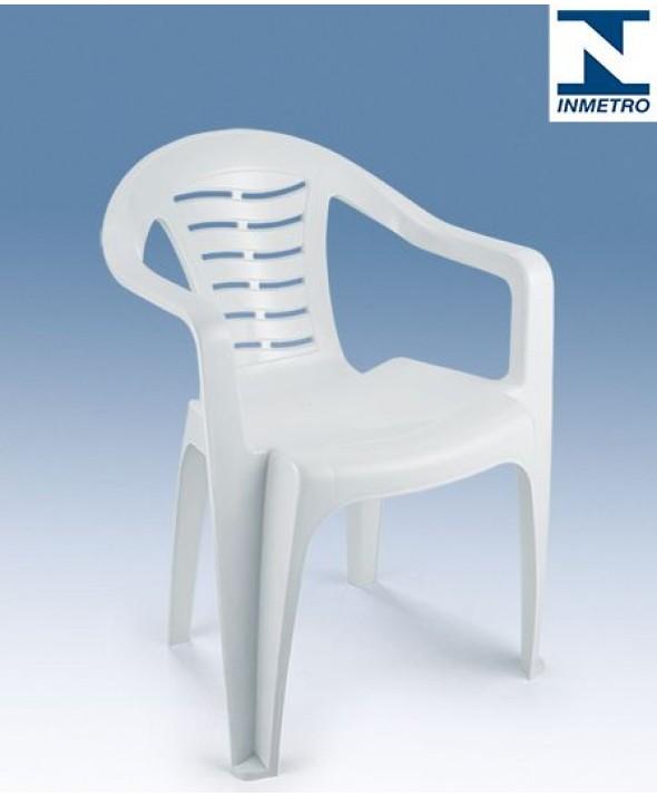 Poltrona de Plástico, Monobloco Com Braço Modelo 2